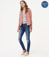 LOFT Tall Modern Skinny Jeans in Destructed Indigo Wash