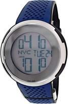 Gucci Men's I YA114105 Blue Rubber Swiss Quartz Watch with Digital Dial