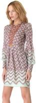 Peter Som Floral Long Sleeve Dress