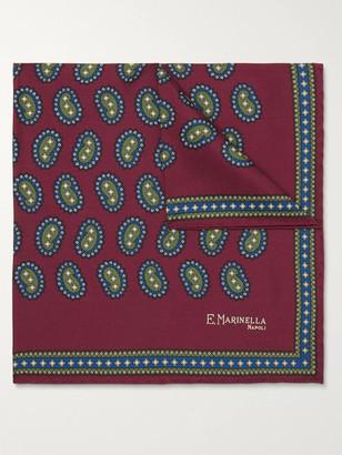 E.Marinella Paisley-Print Silk-Twill Pocket Square