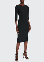 Dolce & Gabbana 3/4-Sleeve Cady Knee Dress