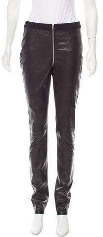 Alexander Wang Mid-Rise Leather Pants