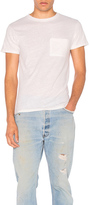 RE/DONE 1960s Slim Pocket Tee in White.