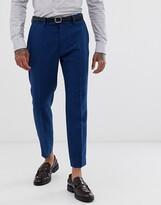 Asos Design DESIGN wedding skinny crop suit pants in blue wool mix twill
