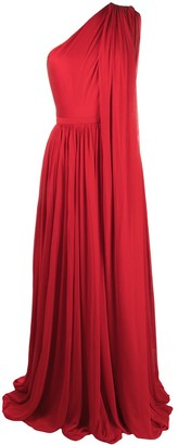 Alexander McQueen One-Shoulder Draped Gown