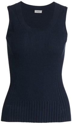 Akris Punto Ribbed Sleeveless Wool Top