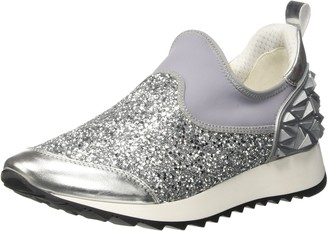 Cult Womens Cream Slipon 1424 Low Trainers Silver Size: 7