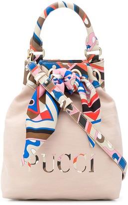 Emilio Pucci Printed Panels Bucket Bag