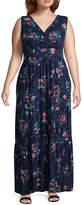 ST. JOHN'S BAY Sleeveless Floral Print Maxi Dress - Plus