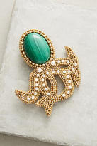 Bea Valdes Malachite Octopus Brooch