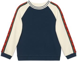 Gucci Children's cotton sweatshirt with InterlockingG
