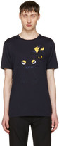 Fendi Navy Butterfleyes and Frogs T-shirt