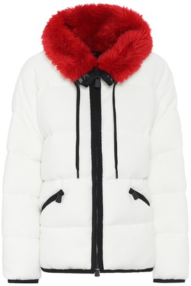 MONCLER GRENOBLE Faux fur-trimmed ski jacket
