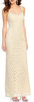 Xtraordinary Beaded Sweetheart Neck Cutout-Back Long Lace Dress