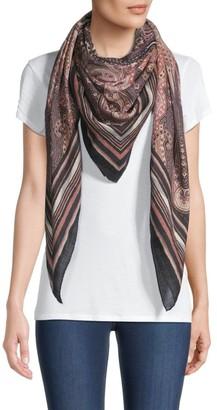 Etro Paisley Wool & Silk Shawl