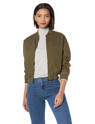 The Fifth Label Women's Symbolic Racing Stripe Khaki Bomber Jacket