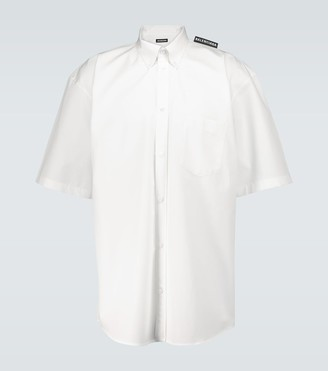 Balenciaga Tab short-sleeved cotton shirt