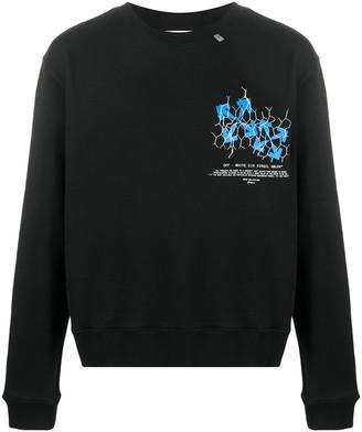 Off-White Fence Arrows Print Sweatshirt