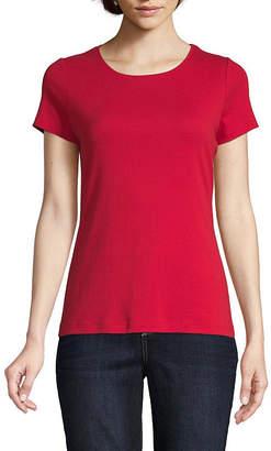 ST. JOHN'S BAY Tall-Womens Crew Neck Short Sleeve T-Shirt