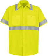 JCPenney Red Kap Short-Sleeve High-Visibility Shirt - Big & Tall