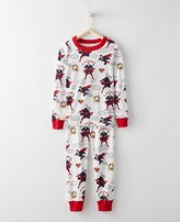 Justice League SUPERMANTM Kids Long John Pajamas In Organic Cotton