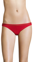 La Perla Low-Rise Mesh Trim Bikini Bottom