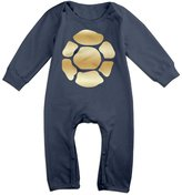 WSWDSH Teenage Mutant Ninja Turtle Gold Logo Newborn Baby Girls Boys Romper