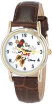 Disney Women's D073S007 Minnie Mouse Brown Leather Strap Watch