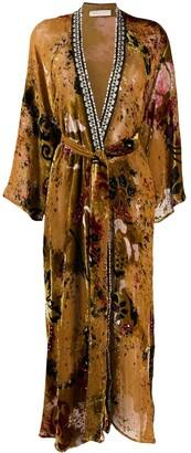 Anjuna Silk Blend Belted Coat