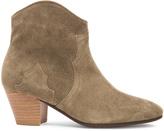 Etoile Isabel Marant Dicker Calfskin Velvet Leather Boots