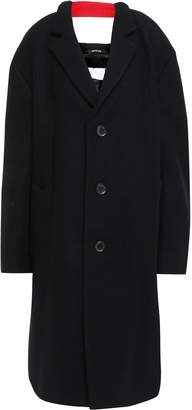 Maison Margiela Cutout Grosgrain-trimmed Wool-felt Coat