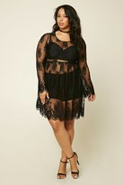 Forever 21 Plus Size Sheer Lace Dress