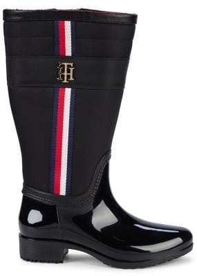 Tommy Hilfiger Logo Slip-On Boots