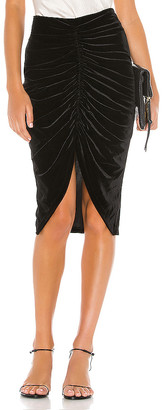 Line & Dot Andy Ruched Midi Skirt