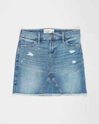 Abercrombie & Fitch Girl's Blue Denim skirts - Denim Skirt - Teens - Size 11-12YRS at The Iconic