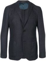 Corneliani patch pockets checked blazer - men - Wool - 48