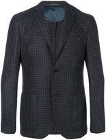 Corneliani patch pockets checked blazer