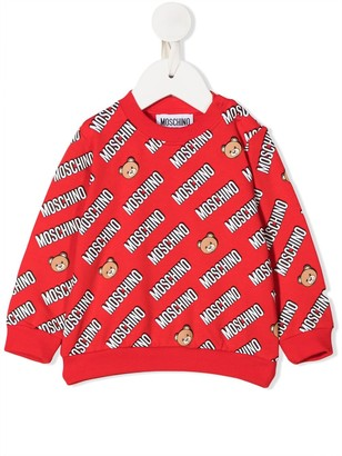 MOSCHINO BAMBINO Bear Print Sweater