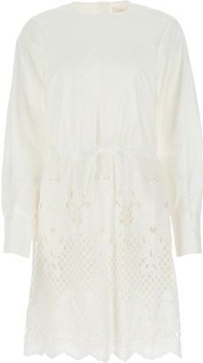 See by Chloe Broderie Anglaise Long Sleeve Dress