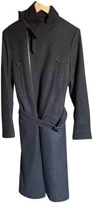 Yohji Yamamoto Y-3 By Black Wool Coat for Women