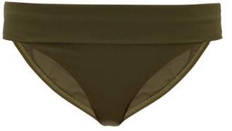Melissa Odabash Brussels High-waist Ribbed Bikini Briefs - Dark Green