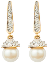 Susan Caplan Vintage 1980s 22ct Gold Plated Faux Pearl and Swarovski Crystal Drop Earrings, Gold
