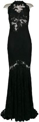Olvi ́S Lace-Embroidered Maxi Dress