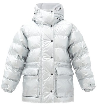 adidas by Stella McCartney Hooded Quilted-shell Jacket And Gilet - Silver