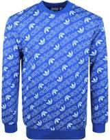 Adidas Originals AOP Logo Sweatshirt Blue