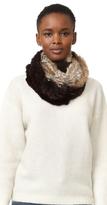 Adrienne Landau Knit Fur Combo Loop Scarf