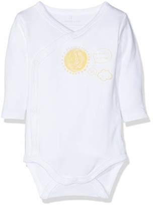 Name It Baby Nbnurbanha Ls Wrap Body Wm Romper, Bright White, (Size: 50)