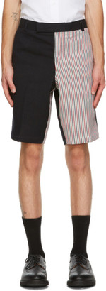 Thom Browne Navy Double Face Shorts