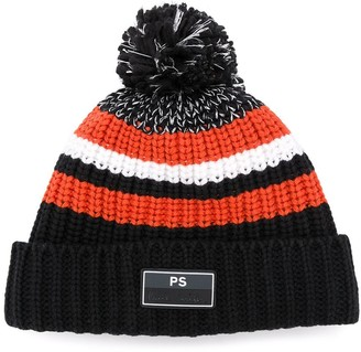 Paul Smith knitted striped hat
