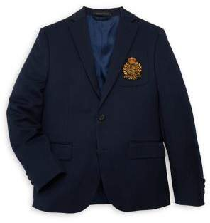 Lauren Ralph Lauren Boy's Crest Button Blazer